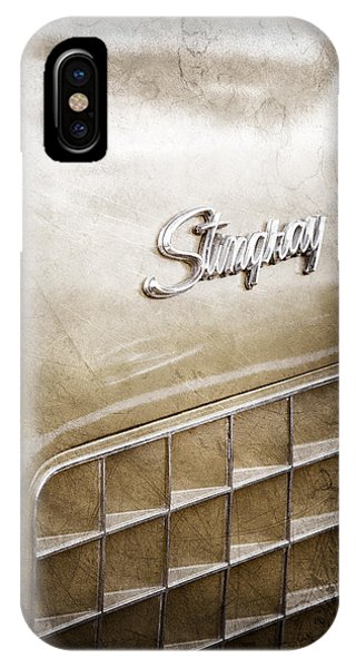 1972 iPhone Case - 1972 Chevrolet Corvette Stingray Emblem by Jill Reger