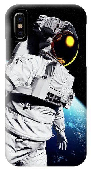 Astronaut In Space Phone Case by Sciepro/science Photo Library