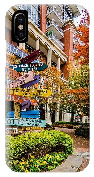 Charlotte City Skyline Autumn Season IPhone Case