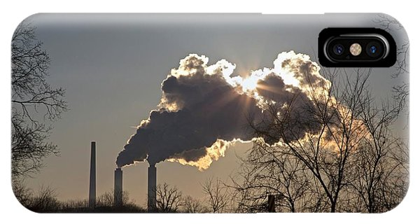 Plumes iPhone Case - Coal-fired Power Station by Jim West