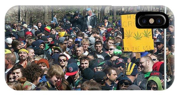 Legalisation Of Marijuana Rally IPhone Case