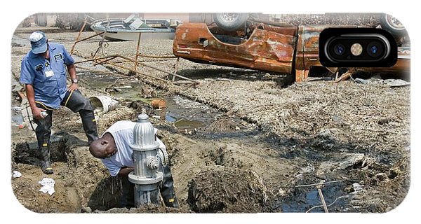 Katrina iPhone Case - Repairing Hurricane Katrina Damage by Jim West