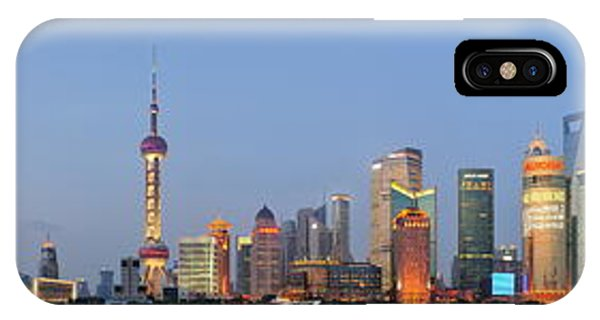 Shanghai Cityscape IPhone Case