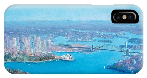 Sydney Harbour And The Opera House Aerial View  IPhone Case