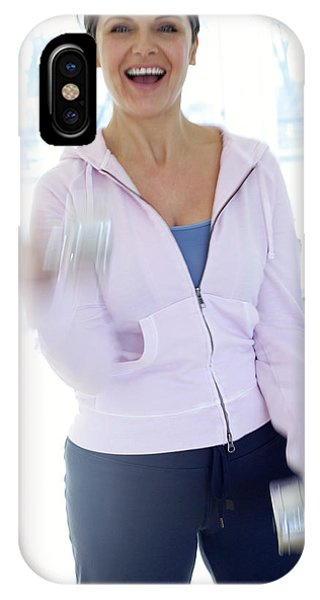 Woman Exercising Phone Case by Ian Hooton/science Photo Library
