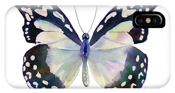 90 Angola White Lady Butterfly IPhone Case