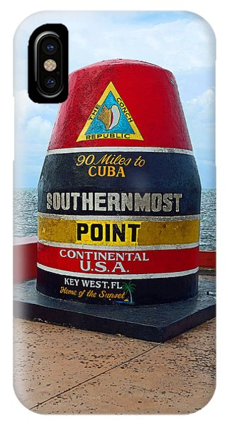 Southernmost Point Key West - 90 Miles To Cuba IPhone Case