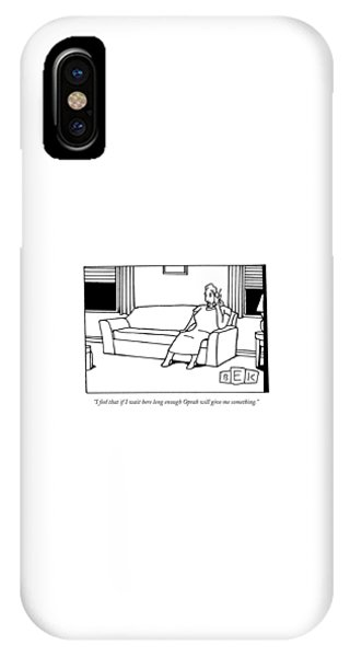 I Feel That If I Wait Here Long Enough Oprah IPhone Case