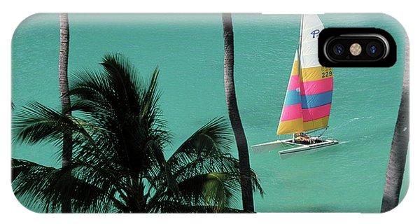 Catamaran iPhone Case - North America, Usa, Hawaii by Sunstar