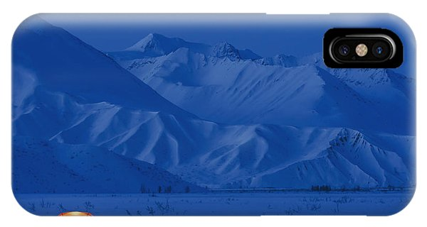 Winter iPhone Case - A Backpacking Tent Lit Up At Twilight by Kevin Smith
