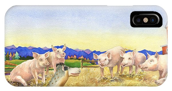 Barnyard iPhone Case - A Barnyard Of Pigs by Anne Gifford