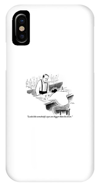 A Bartender Speaks To A Man Who Is Sitting IPhone Case