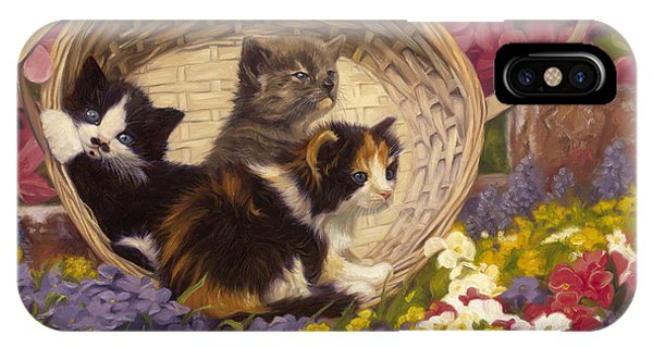 Basket iPhone Case - A Basket Of Cuteness by Lucie Bilodeau
