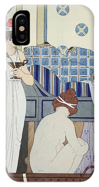 Wine Pouring iPhone Case - A Bath Seat by Joseph Kuhn-Regnier