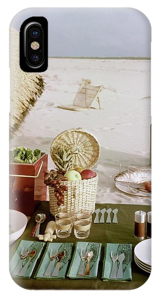 A Beach Picnic IPhone Case