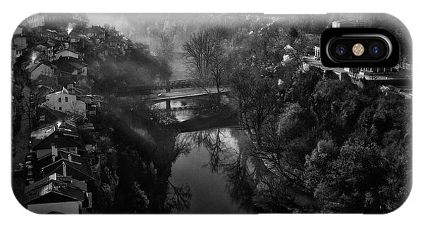 River iPhone Case - A Beautiful Morning In Veliko Tarnovo by Andrei Nicolas -