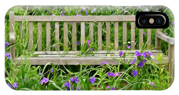 A Bench For The Flowers IPhone Case