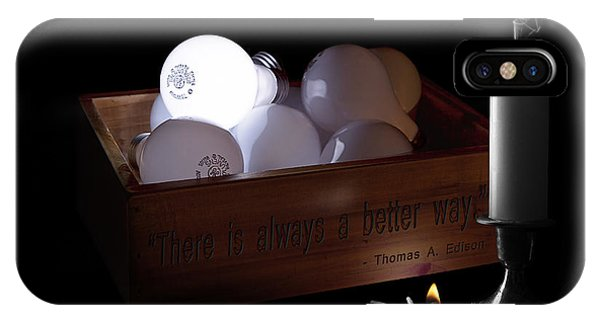 Illusion iPhone Case - A Better Way Still Life - Thomas Edison by Tom Mc Nemar