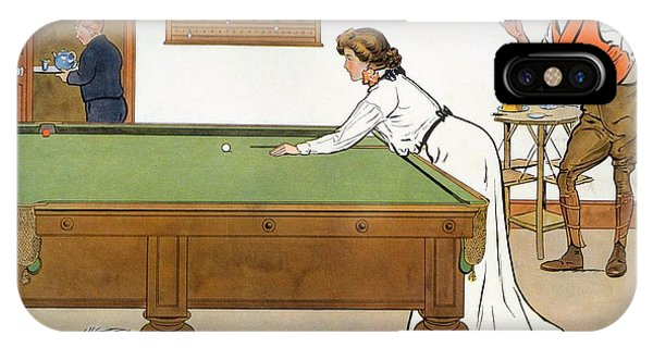 Pub iPhone Case - A Billiards Match by Lance Thackeray