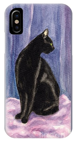 A Black Cat's Sexy Pose IPhone Case