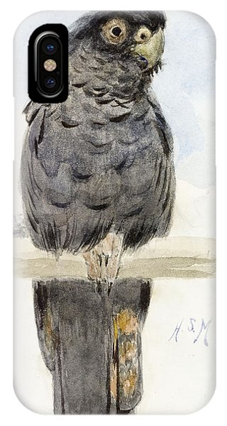 Cockatoo iPhone Case - A Black Cockatoo by Henry Stacey Marks