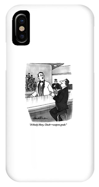 Bloody Mary iPhone Case - A Bloody Mary by J.B. Handelsman