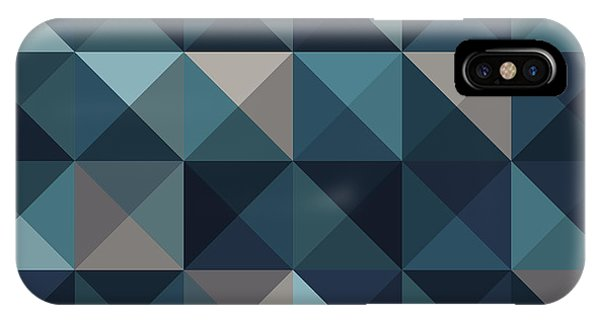 Triangles iPhone Case - A Blue Abstract Vector Pattern by Mike Taylor