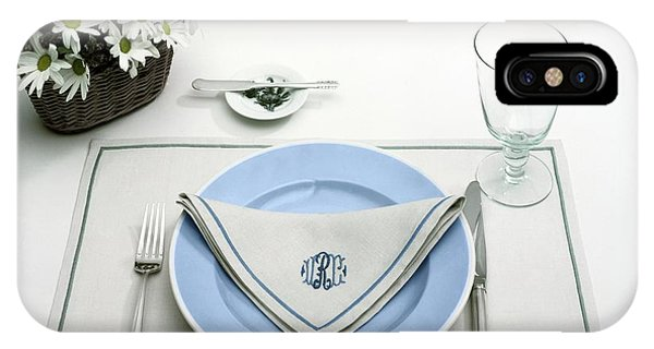 A Blue Table Setting IPhone Case