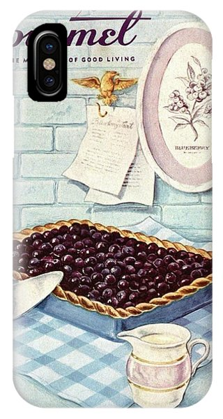 A Blueberry Tart IPhone Case