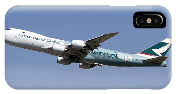 A Boeing 747-800 Cathay Pacific Cargo IPhone Case
