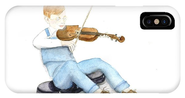 A Boy And His Violin IPhone Case