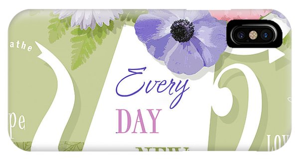 Quote iPhone Case - A Brand New Day by Valerie Drake Lesiak