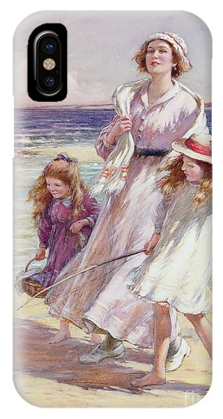 Ocean Breeze iPhone Case - A Breezy Day At The Seaside by William Kay Blacklock