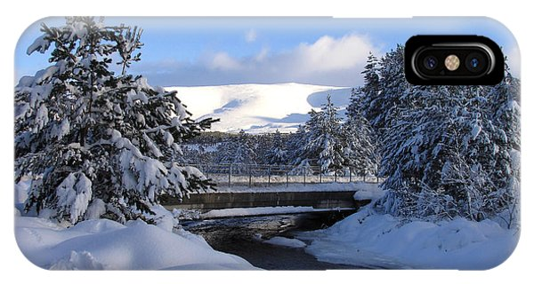A Bridge In The Snow IPhone Case