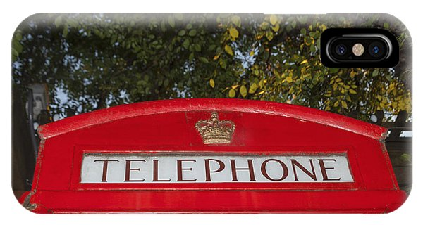 A British Phone Box IPhone Case