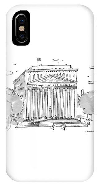 A Building In Washington Dc Is Shown IPhone Case