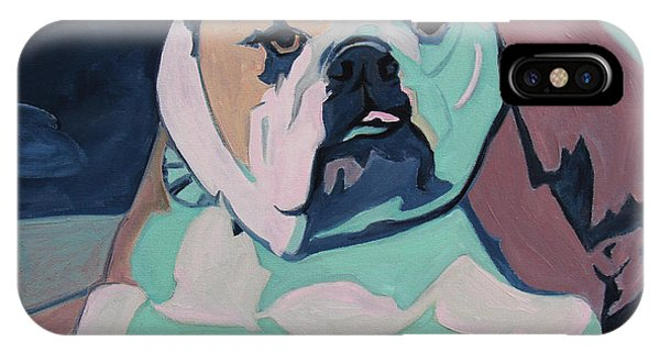 All In The Family iPhone Case - A Bulldog In Love by Xueling Zou