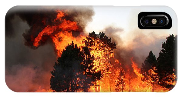 A Burst Of Flames From The White Draw Fire IPhone Case
