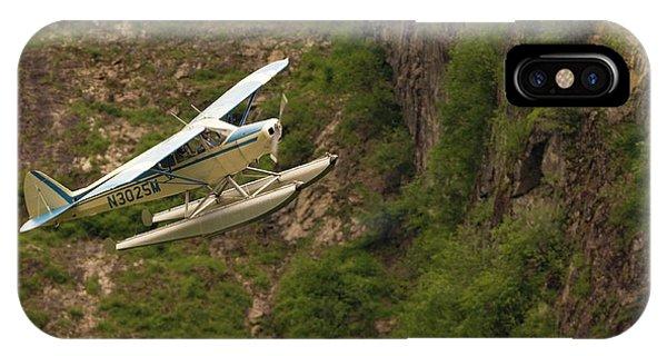 A Bush Pilot Flies His Float Plane IPhone Case