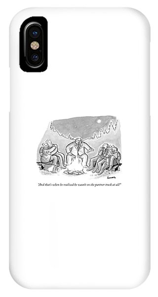 A Businessman In A Suit Sits Telling A Story IPhone Case