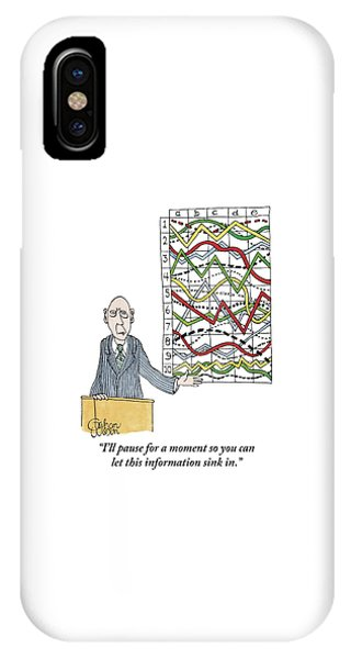 A Businessman Stands Behind A Podium IPhone Case