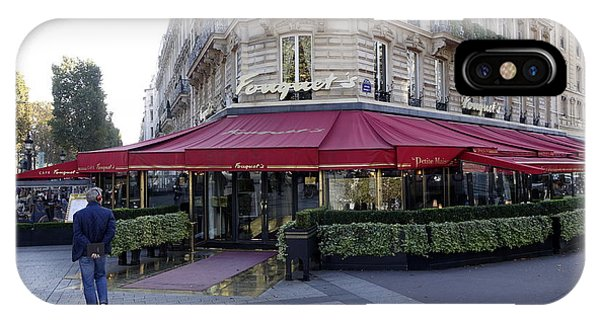 A Cafe On The Champs Elysees In Paris France IPhone Case