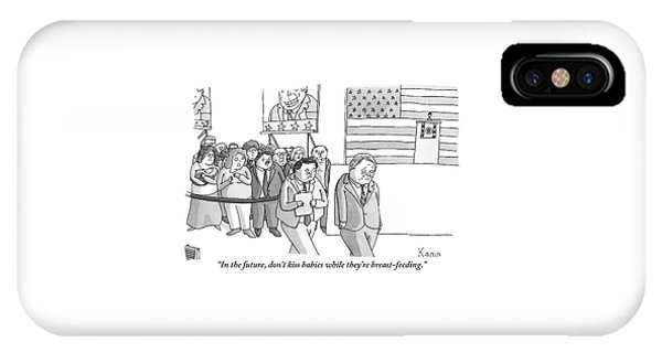 A Campaign Manager Speaks To A Bashful Politician IPhone Case