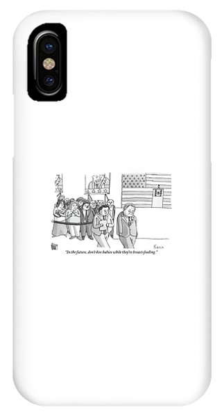 Election iPhone Case - A Campaign Manager Speaks To A Bashful Politician by Zachary Kanin