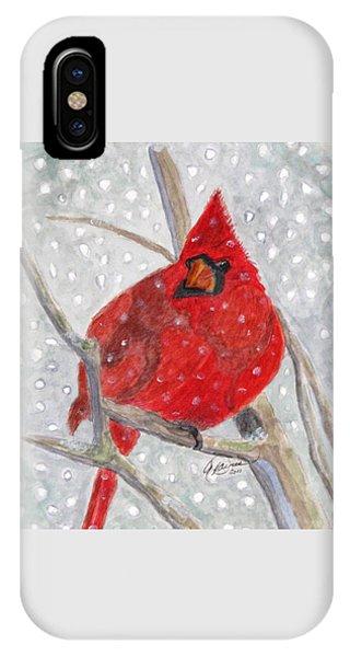 A Cardinal Winter IPhone Case