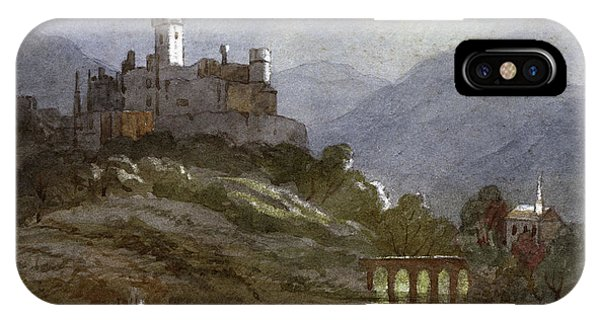 A Castle Sits On The Top Of A  Hill Phone Case by Mary Evans Picture Library
