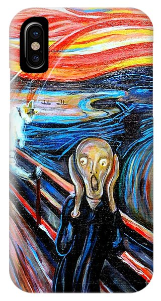 A Cat For Edvard Munch_ Annie Passing Through IPhone Case