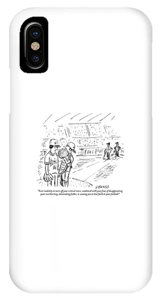 A Catcher Speaks To A Baseball Player IPhone Case