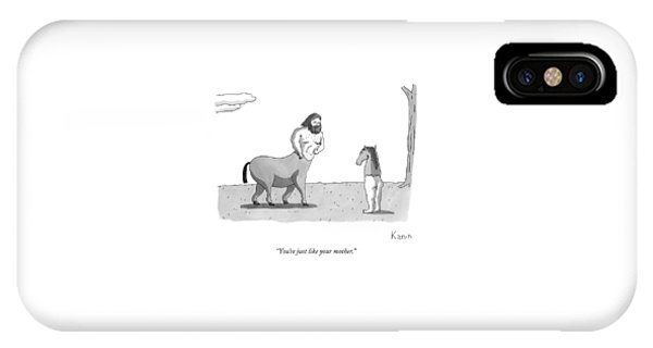 A Centaur Angrily Talks To A Creature Who IPhone Case