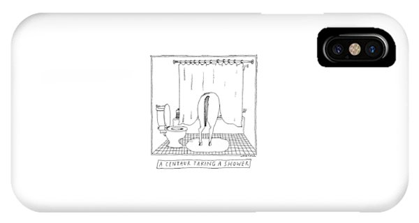 A Centaur Taking A Shower -- The Horse's Rear End IPhone Case